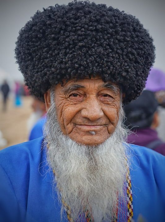 only old men are allowed to have a beard in turkmenistan
