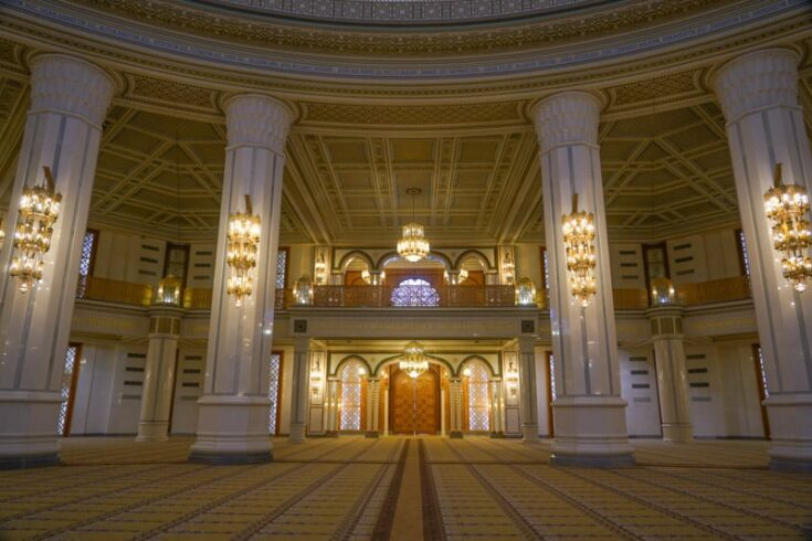 inside The Türkmenbaşy Ruhy Mosque ashgabat turkmeistan