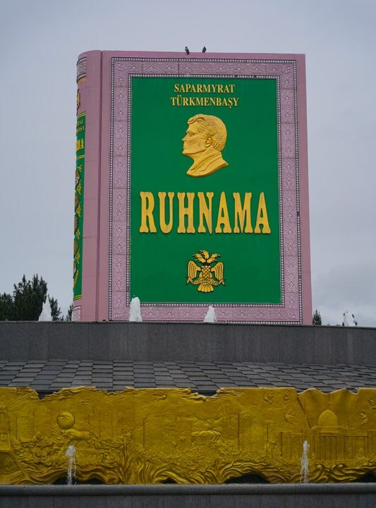 The statue of the Ruhnama