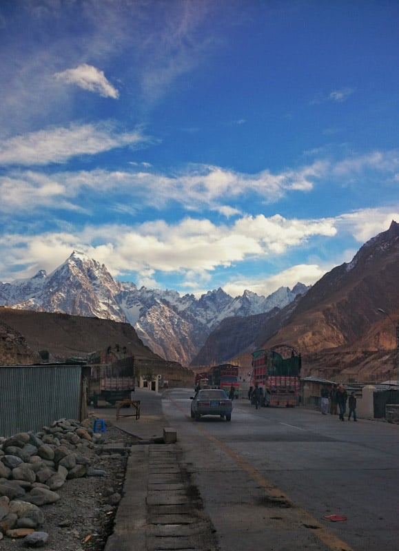 Sost last town in Pakistan before going to China.