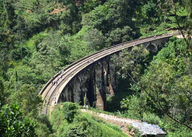 Ella train in sri lanka bridge