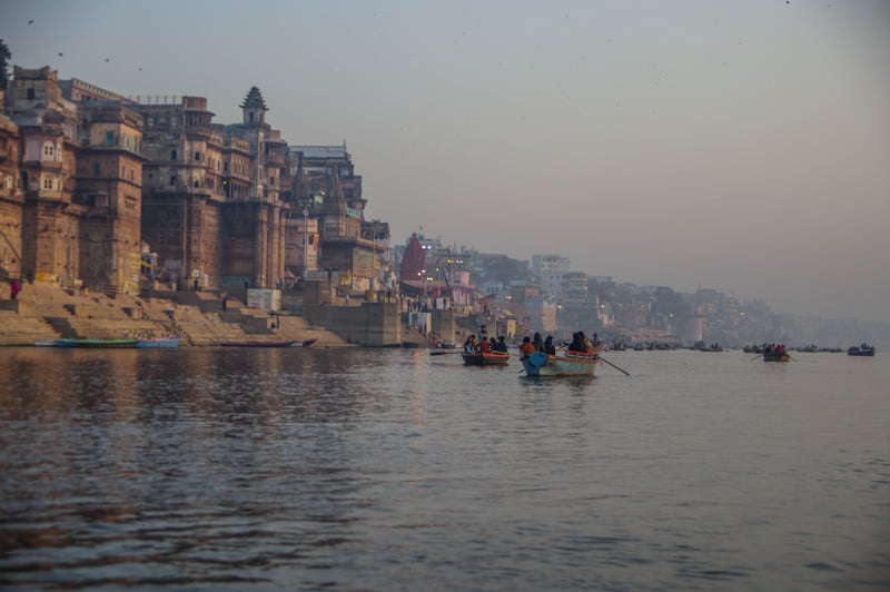 Taking a boat trop down gANGES IS A MUST DO WHILE IN Varanasi