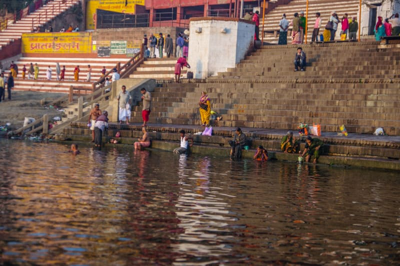 local swimming in Ganges
