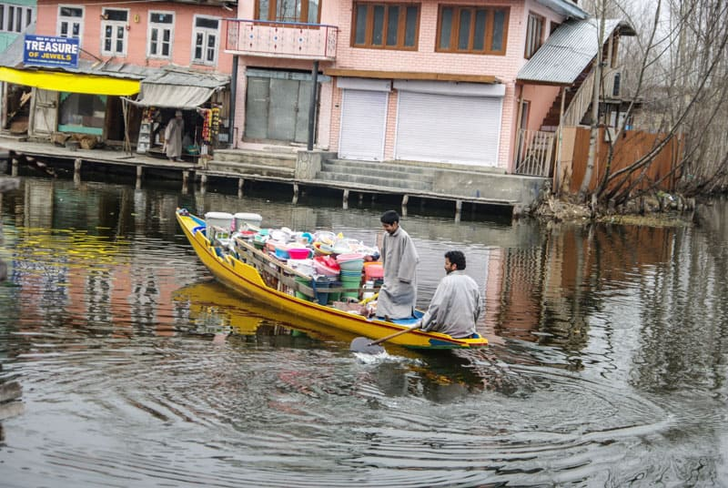 small floating shops