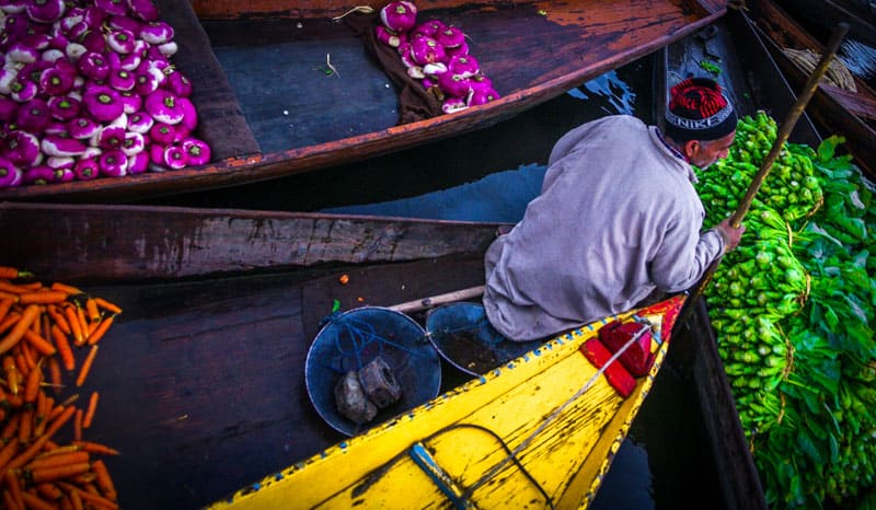 плавучий рынок Шринагар