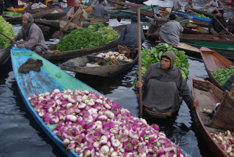 floating market Srinagar
