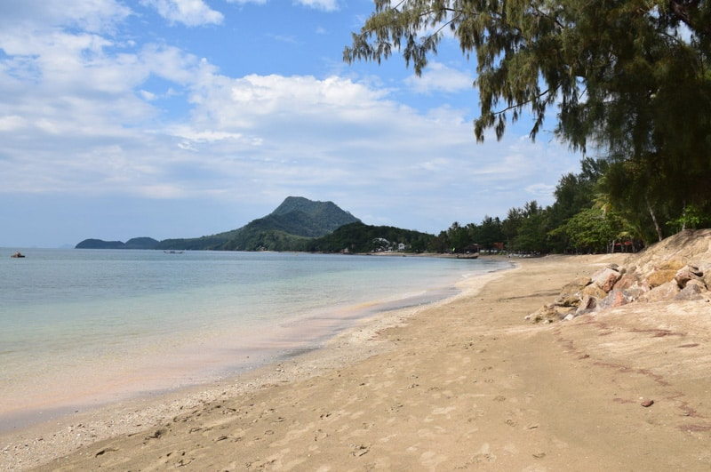Long beach on Koh jum in thailand travel guide