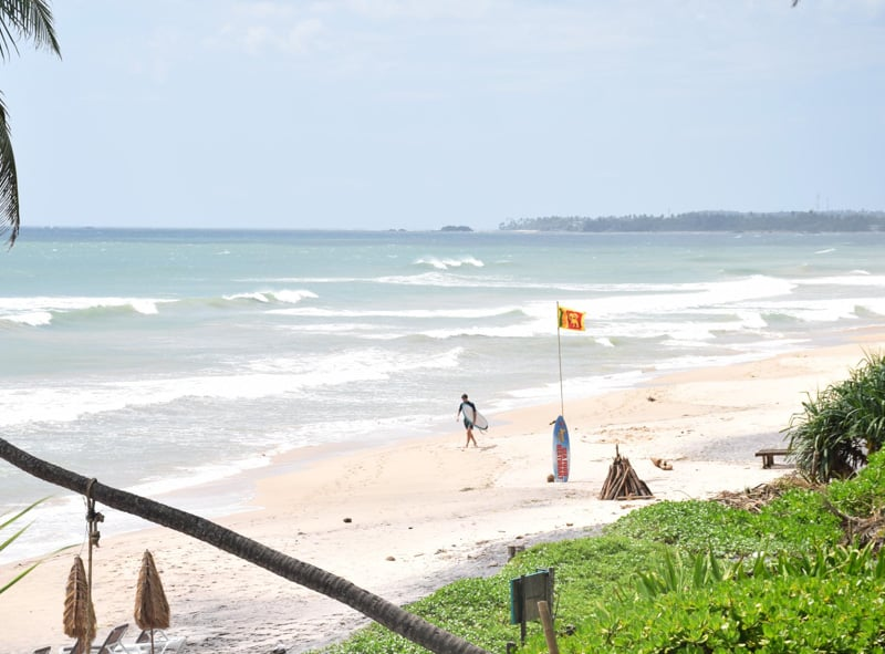 amazing beaches with surf at SK Town in Sri Lanka.