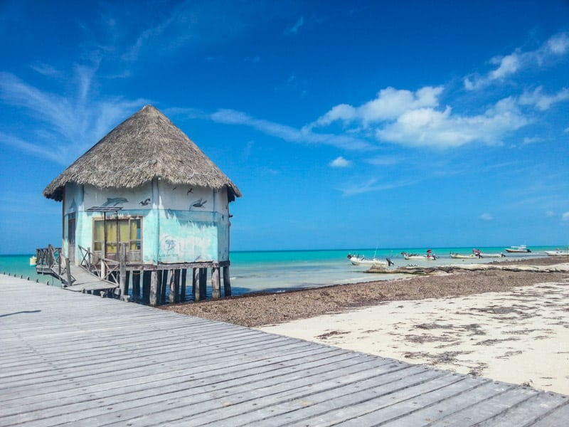 Isla Holbox pier in Mexico