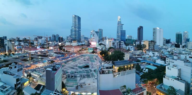 Ho chi minh city skyline in Vietnam