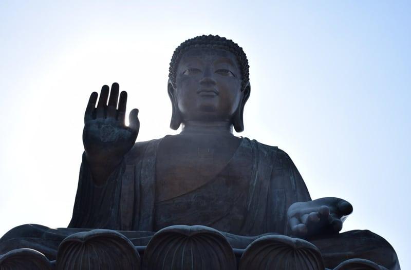 Big Buddha statue in. Hong kong