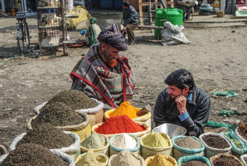 an market on land