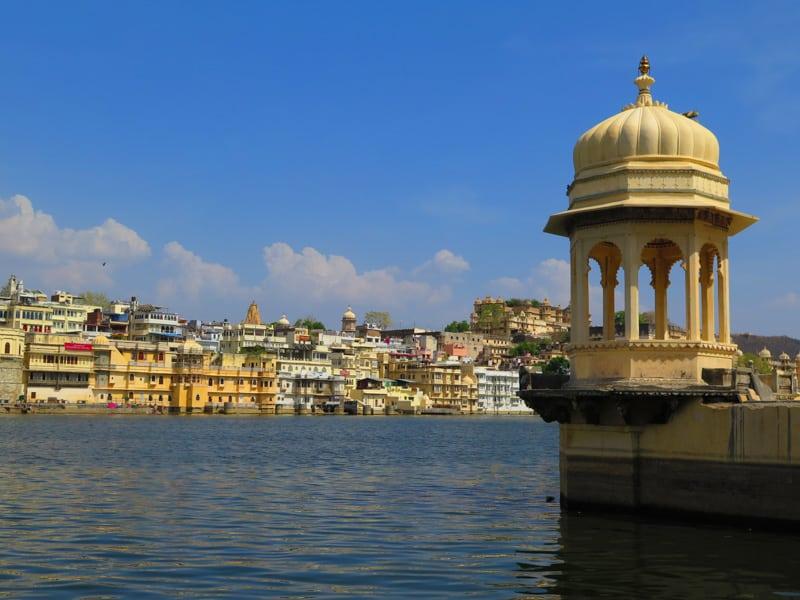 lake view in Udaipur in Rajasthan India