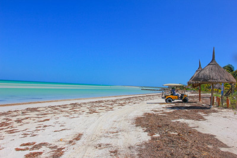 Golf cart isla holbox