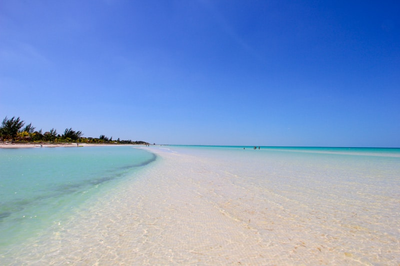 perfect beaches on Isla Holbox