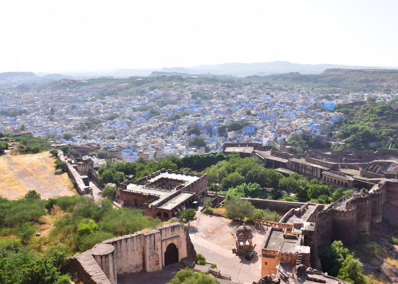 Overlooking the blue city of Jodhpur in India