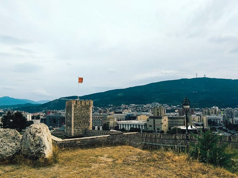 Kale Fortress stands on the highest hill in the Skopje valley and offers great views over the city.