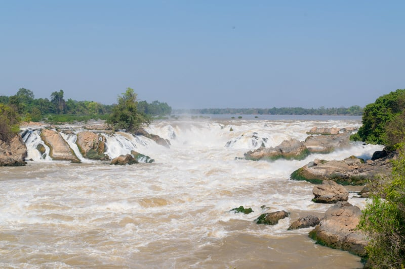 Khone Phapheng Falls in Champasak