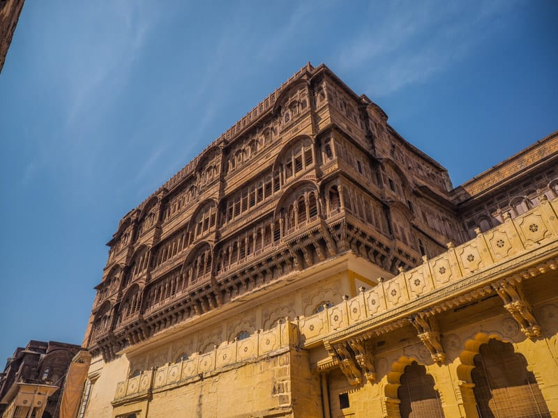 inside Mehrangarh blue city in india