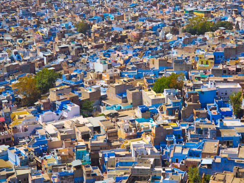 blue city of jodhpur in India