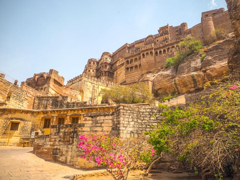 outside of Mehrangarh in Jodphur in india