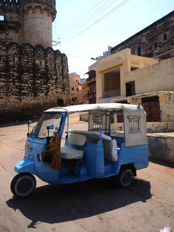 even TukTuks are blue in Jodhpur in india