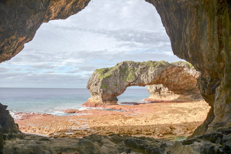 Talava Arch a national landmark in Niue