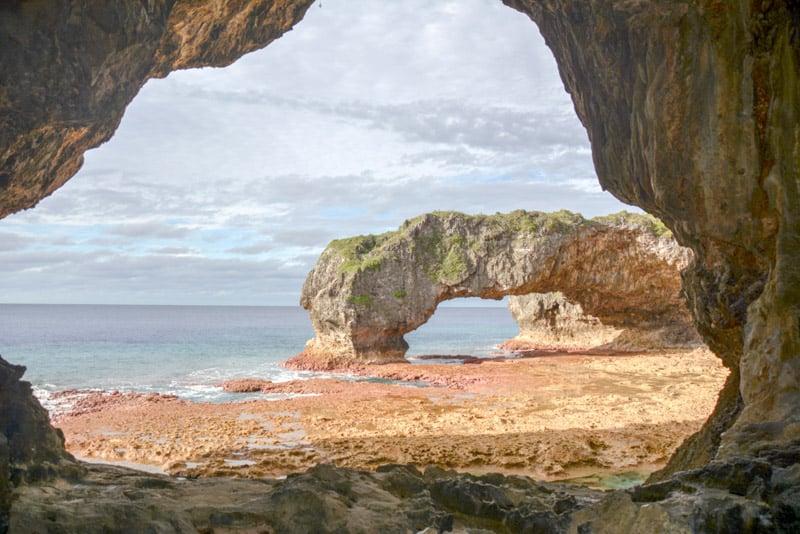 Talava Arch a national landmark in Niue