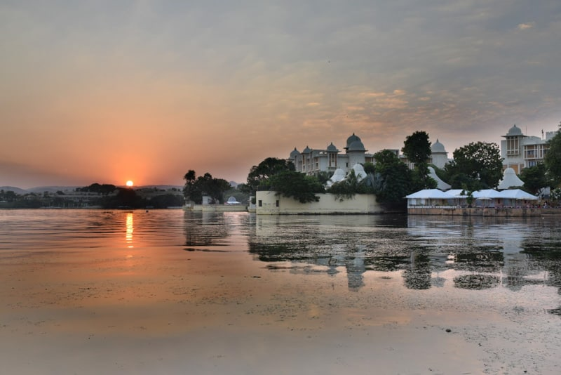 sunset in Udaipur