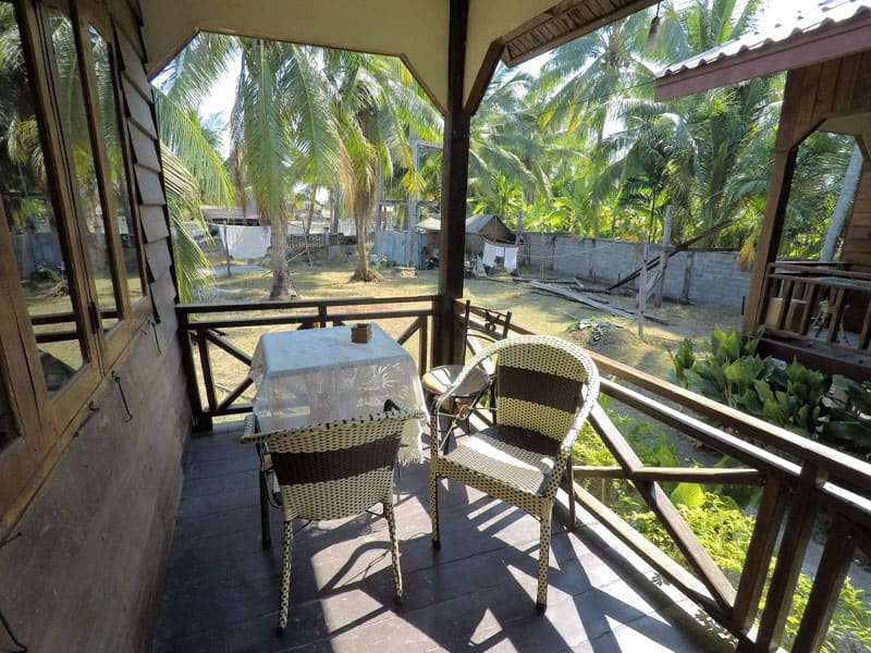 outside of my bungalow in don khon si phan don hammock