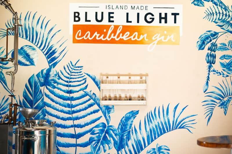 Blue Light Caribbean Gin is surprisingly smooth and has a unique taste гренада 10 лучших вещей, которые нужно сделать в Гренаде Blue Light Caribbean Gin Distillery The Dharma Trails