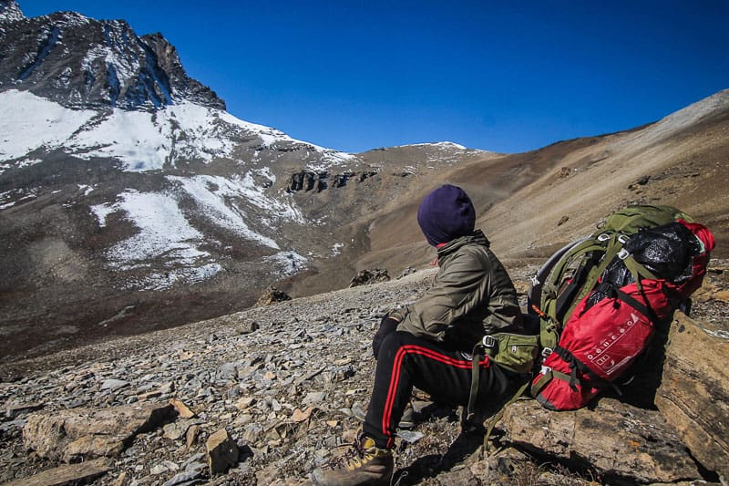 hiking nepal guide remote