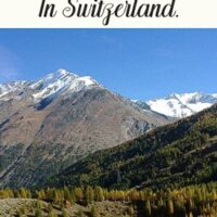 Travel guide to Switzerland hiking guide