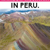 There´s a new and alternative rainbow mountain in Peru, an easy day trip from the world heritage city of Cusco