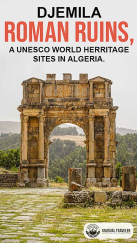"""Travel guide to Djemila in Northern Algeria is one of the best-preserved Roman Ruins in all of North Africa; it´s easy to understand why it´s named Djemila, meaning Beautiful in Arabic. """"Lonely Planet has described Djemila as one of the world's great archaeological sites. """" It´s also a UNESCO world heritage site."""