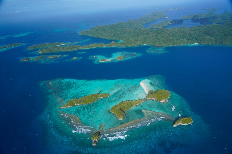 More beauty from the rock islands from the air. Palau