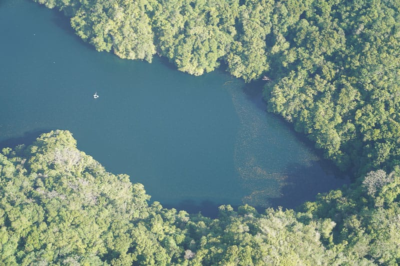 JellyFish Lake from above in Palau