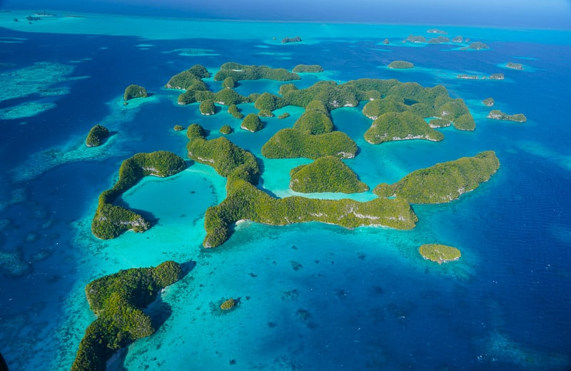 The amazing rock islands in Palau