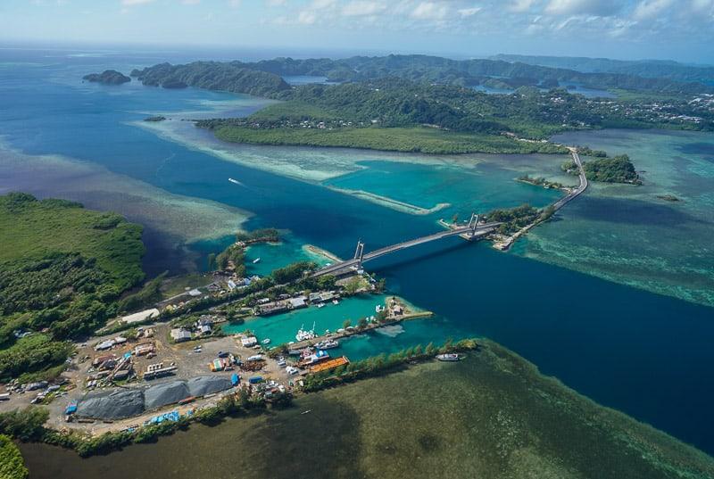Japanese friendship bridge in Palau