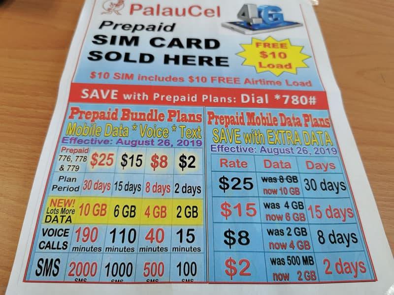 Palau local simcard