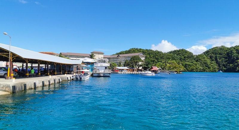Palau public ferry dock
