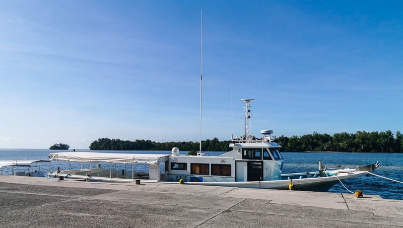 Odesangel Dill the fast ferry to Peleliu in Palau