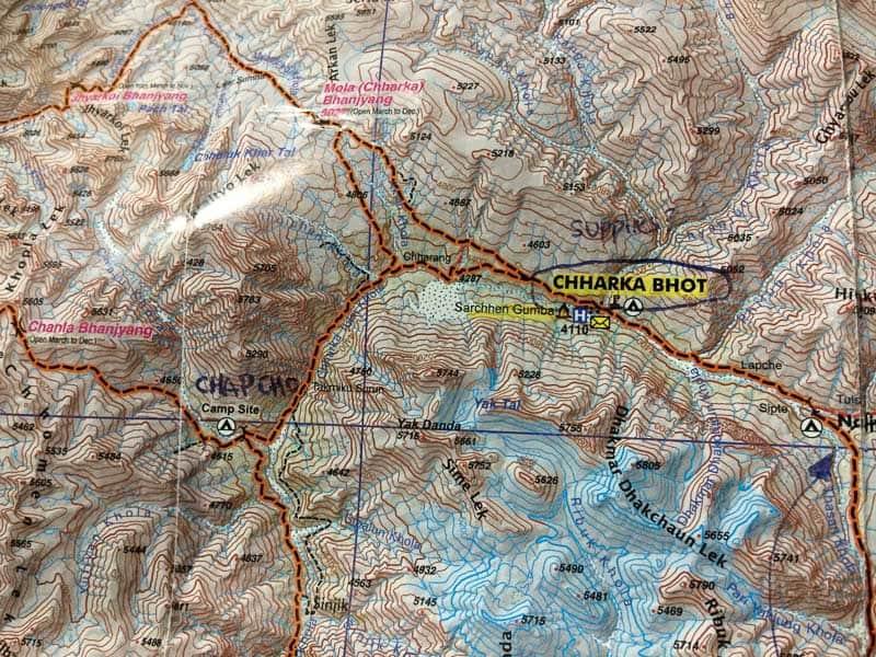 Dolpo nepal map