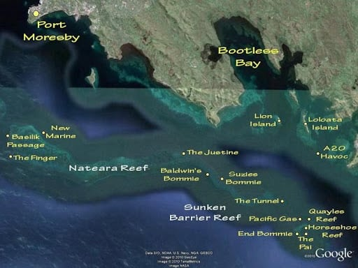 Port Moresby Dive Sites in Papua New Guinea (PNG)