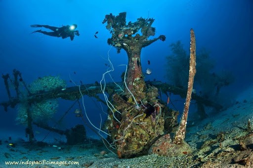 The Deep Pete Wreck near Kavieng in New Ireland in Papua New Guinea (PNG)