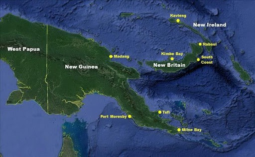 Dive map in PNG