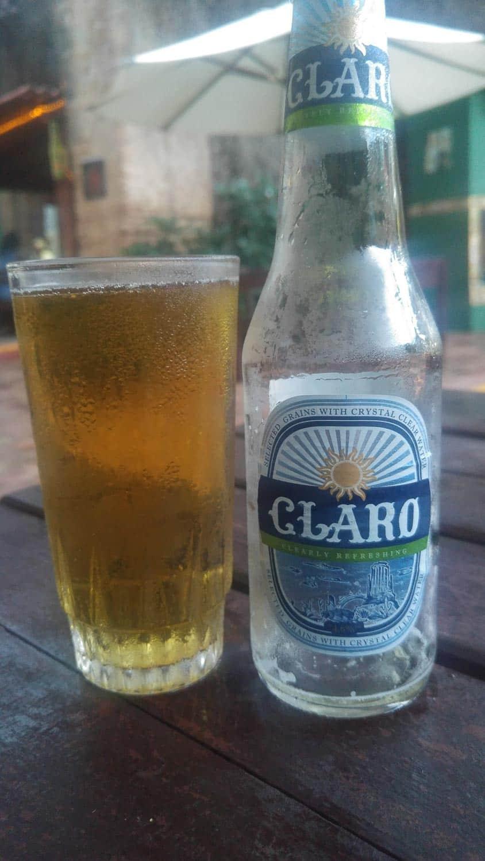 claro beer in Cuba