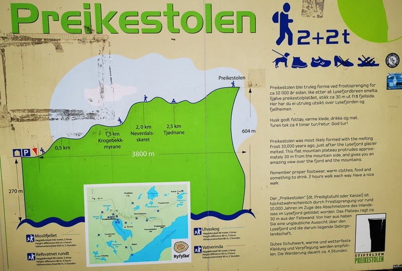 Preikestolen Map