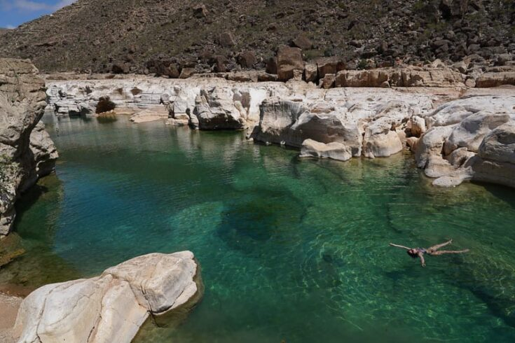 Kalisan wadi a great place for siwmming on socotra