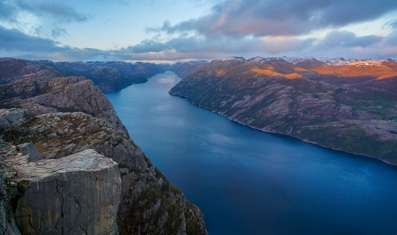 Preikestolen Pulpit Rock one of the most famous landmarks in Norway